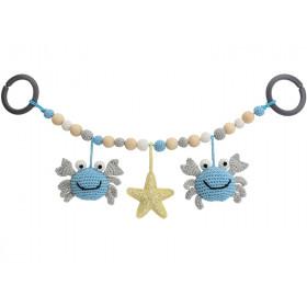 Sindibaba stroller chain CRAB BLUE-GREY (LINK)