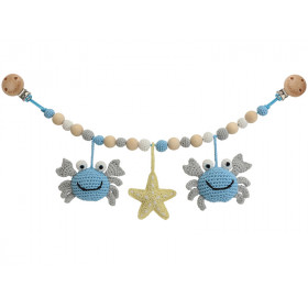 Sindibaba stroller chain CRAB BLUE-GREY