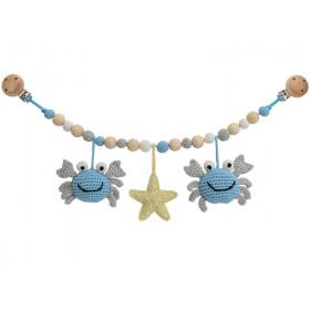 Sindibaba stroller chain CRAB BLUE-GREY