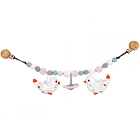 Sindibaba stroller chain BIRDS flower