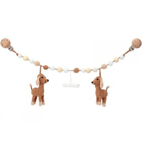 Sindibaba Stroller Chain DOG LUCKY brown