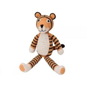 Sindibaba Crochet Cuddly Toy Rattle tiger TONY