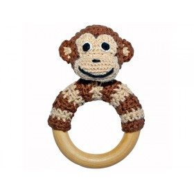 Sindibaba monkey rattle brown
