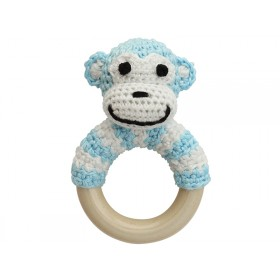 Sindibaba Rattle Ring MONKEY BLUE