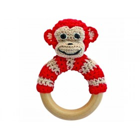 Sindibaba monkey rattle red