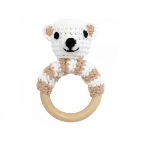 Sindibaba bear rattle ring