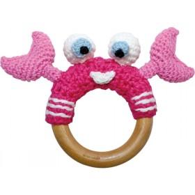 Sindibaba crab rattle pink
