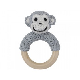 Sindibaba monkey rattle grey