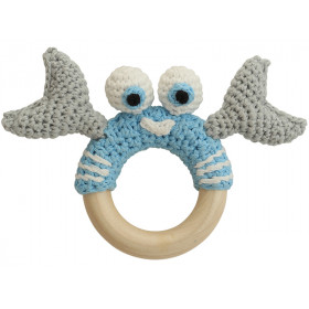Sindibaba crab rattle BLUE-GREY