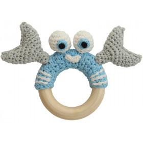 Sindibaba crab rattle BLUE-GREY