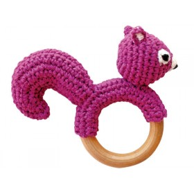 Sindibaba rattle ring chipmunk purple