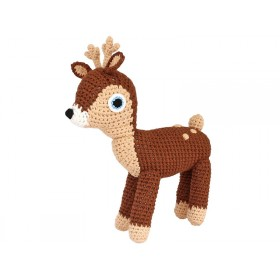 Sindibaba Crochet Cuddly Toy Rattle DEER