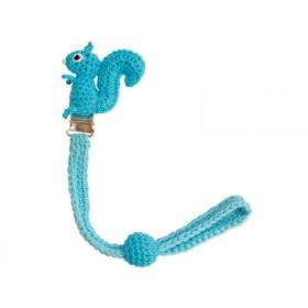 Sindibaba dummy holder squirrel light blue