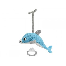 Sindibaba Musical Soft Toy DOLPHIN BLUE