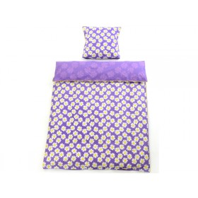 Smallstuff bedding purple daisy
