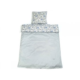 Smallstuff Reversible Bedding Animals soft denim