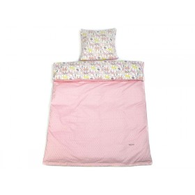 Smallstuff Reversible Bedding Animals soft pink