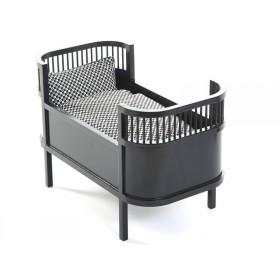 Smallstuff doll's bed black