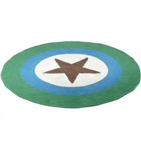 Smallstuff carpet with brown star