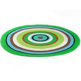 Round Smallstuff carpet with colourful stripes