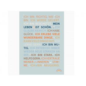 Sonntagskinder Poster AFFIRMATIONS mint