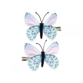 Souza Hair Clips BUTTERFLY blue