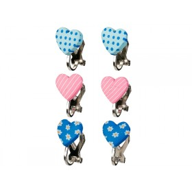 Souza Ear Clips HEARTS blue