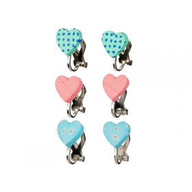 Souza Ear Clips HEARTS mint