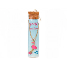 Souza Charm Necklace in Bottle FLAMINGO