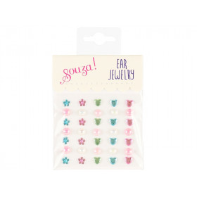 Souza Ear Clip Stickers HEARTS, FLOWERS & DOTS