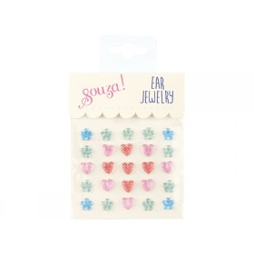 Souza Ear Clip Stickers HEARTS & FLOWERS