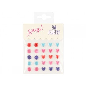 Souza Ear Clip Stickers HEARTS & DOTS