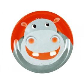 Spiegelburg melamine plate hippo