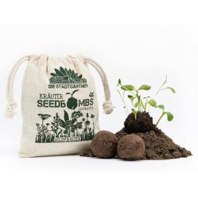 DieStadtgärtner 8 SEEDBOMBS Wild Herbs
