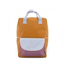 Sticky Lemon Large Backpack WANDERER Caramel Fudge & Sky Blue