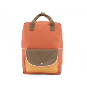 Sticky Lemon Large Backpack WANDERER Faded Orange & 70's Green