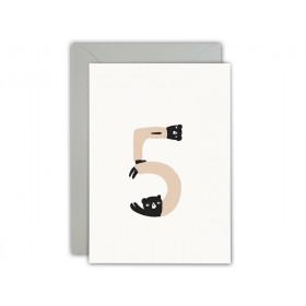 Ted & Tone Greeting Card Happy 5th Birthday