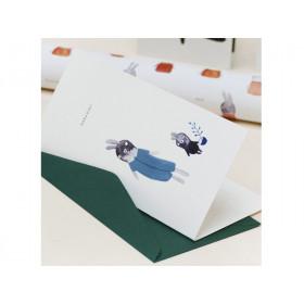 Ted & Tone Greeting Card BABY BOY (21 x 10 cm)