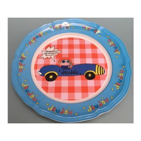 Supersoso Plate large CAR blue