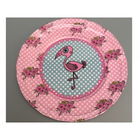 Supersoso Plate medium FLAMINGO pink