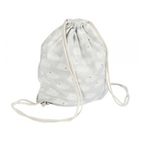 Trixie Drawstring Bag CLOUDS gray