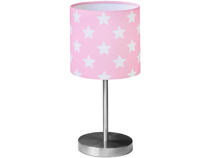 Kids Concept Table Lamp Stars Pink, Pink Kids Lamp