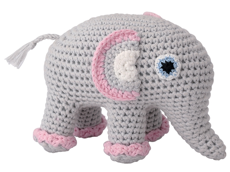 Crochet Elephant Pacifier Holder - pacifier chain soother holder ... | 600x800